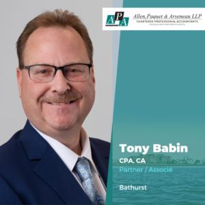 Tony Babin, CPA, CA