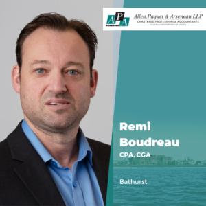 Rémi Boudreau, CPA, CGA